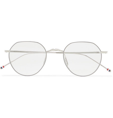 7b0cfef2895c Thom Browne – Round-Frame Silver-Tone Optical Glasses – Men – Silver ...