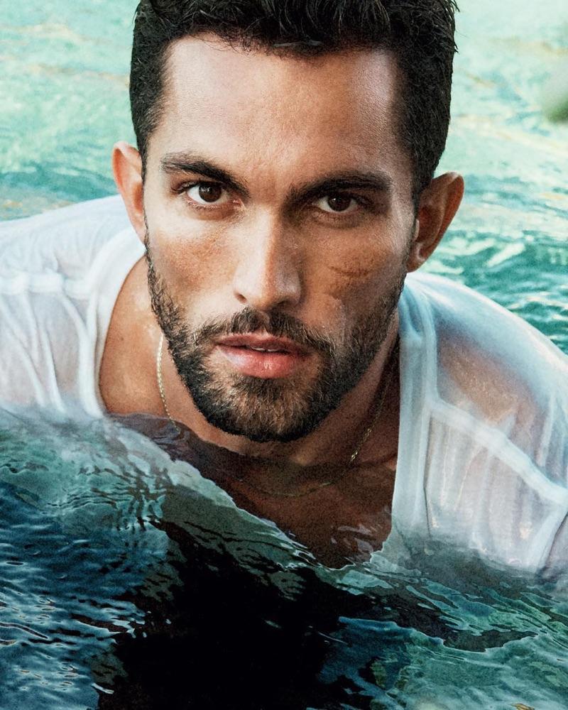 Danish model Tobias Sorensen is the face of the fragrance Davidoff Run Wild.