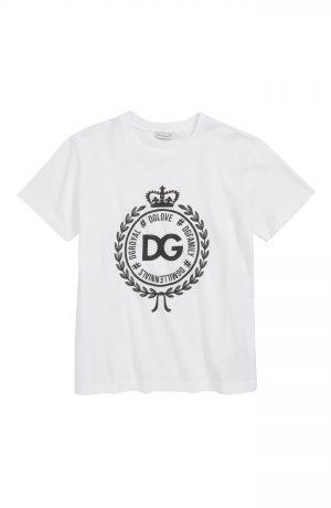 Toddler Boy's Dolce & gabbana Manica Corta Graphic T-Shirt, Size 4 - White