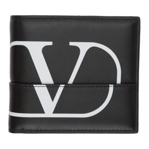 Valentino Black Valentino Garavani Deconstructed Go Logo Wallet