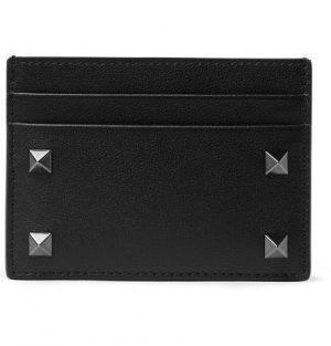 Valentino - Valentino Garavani Rockstud Leather Cardholder - Men - Black