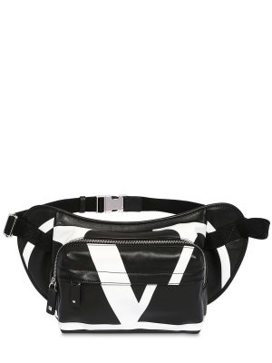 Vlogo Print Leather Belt Bag