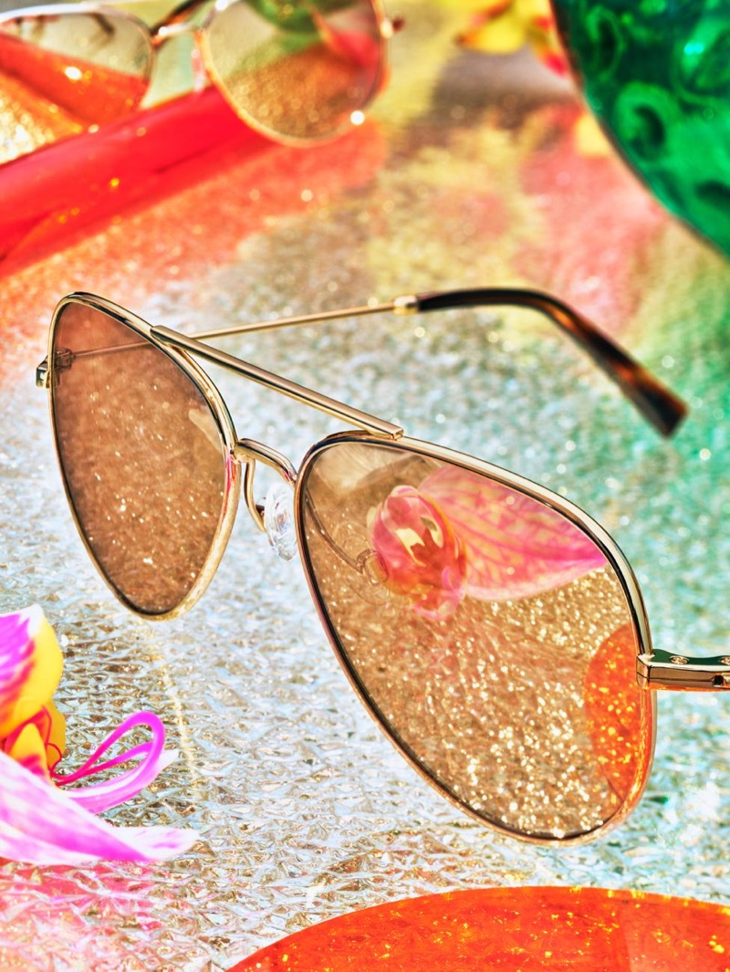 Raider Aviator Sunglasses in Gold with Mirrored Gold Lenses from Warby Parker