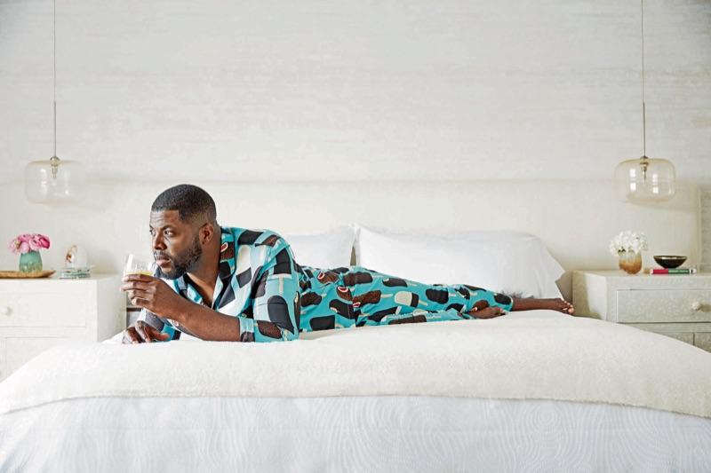 Us actor Winston Duke sports Dolce & Gabbana pajamas.