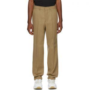 AMI Alexandre Mattiussi Brown Wool Formal Trousers