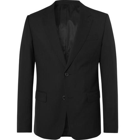 AMI - Black Slim-Fit Virgin Wool Suit Jacket - Men - Black