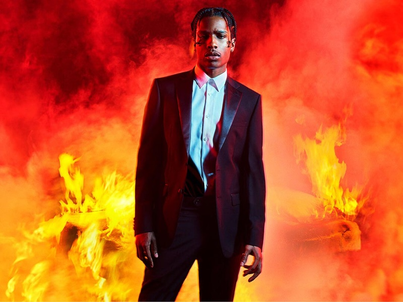 Donning a tuxedo, A$AP Rocky appears in Calvin Klein's spring-summer 2019 #MYCALVINS campaign.