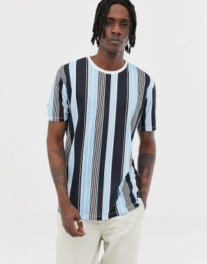 ASOS DESIGN relaxed vertical stripe t-shirt - Multi