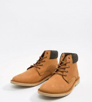 ASOS DESIGN worker desert boots in tan suede - Tan