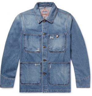 Acne Studios - Albyr Distressed Denim Chore Jacket - Men - Blue