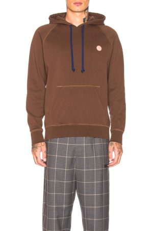 Acne Studios Bla Konst Hooded Sweatshirt in Brown. - size XL (also in S)