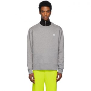 Acne Studios Grey Fairview Face Sweatshirt