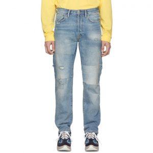 Acne Studios Indigo Bla Konst 1996 Vintage Patch Jeans