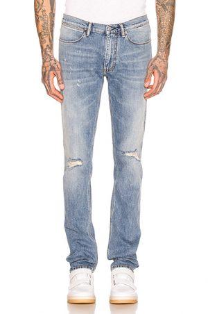 Acne Studios Max Mid Ripped 5 Pocket Denim Jeans in Denim Light. - size 34 (also in 28,29,30,31,32)