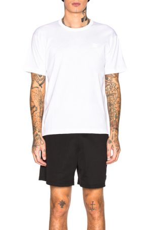 Acne Studios Nash Face Tee in White. - size M (also in S,L,XL)