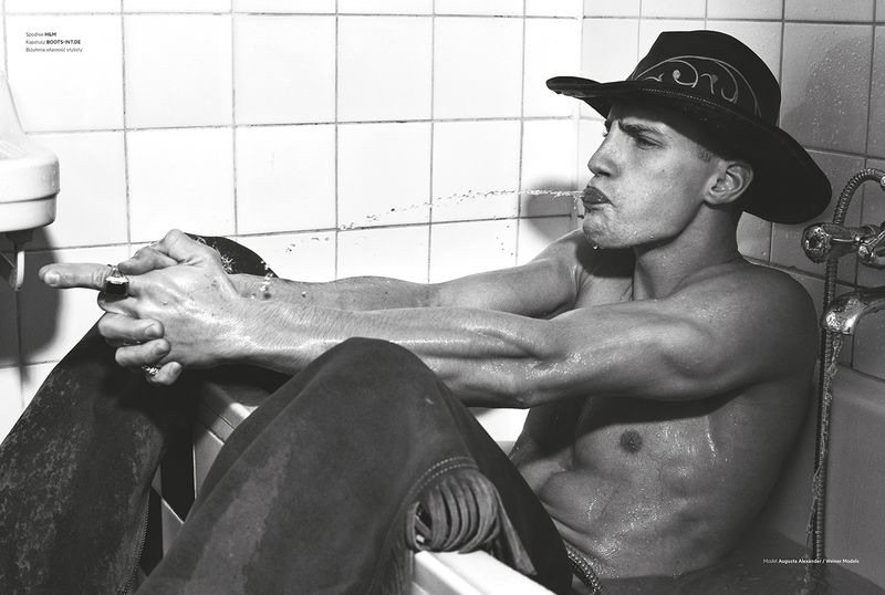 Augusta Alexander is a Cowboy for L'Officiel Hommes Poland