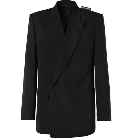 Balenciaga - Black Twill Suit Jacket - Men - Black