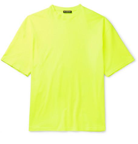 Balenciaga - Cotton-Jersey T-Shirt - Men - Yellow