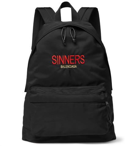 Balenciaga - Explorer Embroidered Canvas Backpack - Men - Black