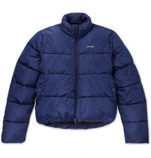 Balenciaga - Oversized Quilted Shell Hooded Jacket - Men - Blue