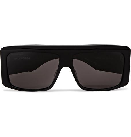 Balenciaga - Square-Frame Acetate Sunglasses - Men - Black