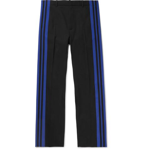 Balenciaga - Striped Twill Trousers - Men - Black