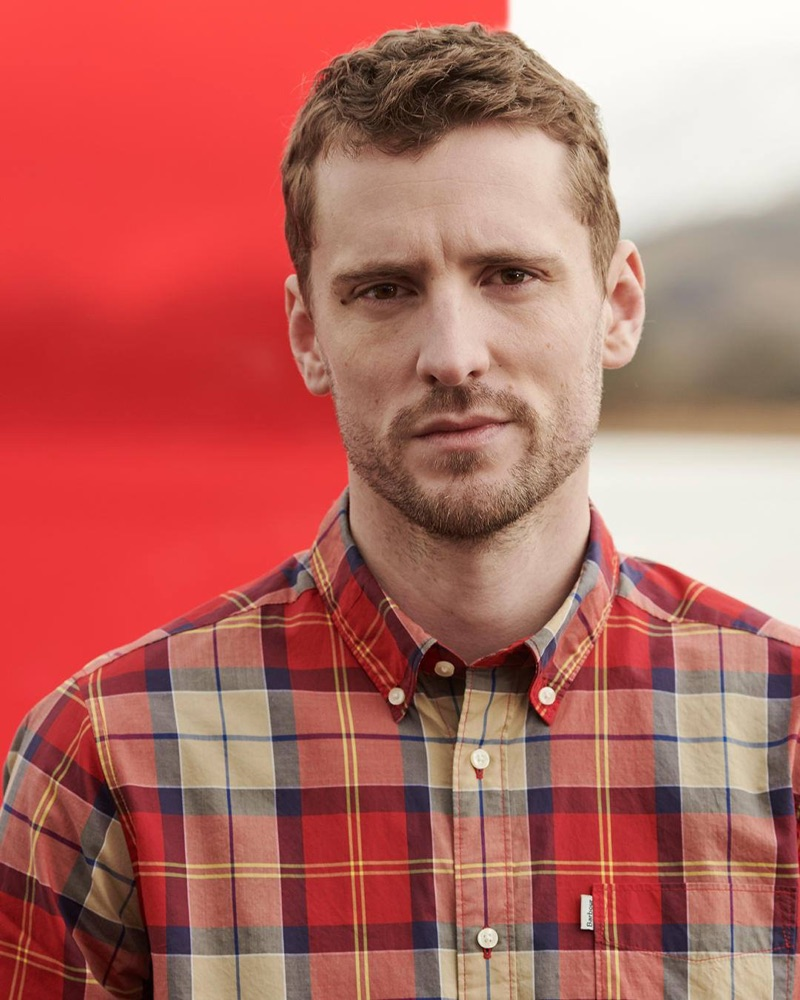 George Barnett fronts Barbour's spring-summer 2019 Pop Tartan campaign.