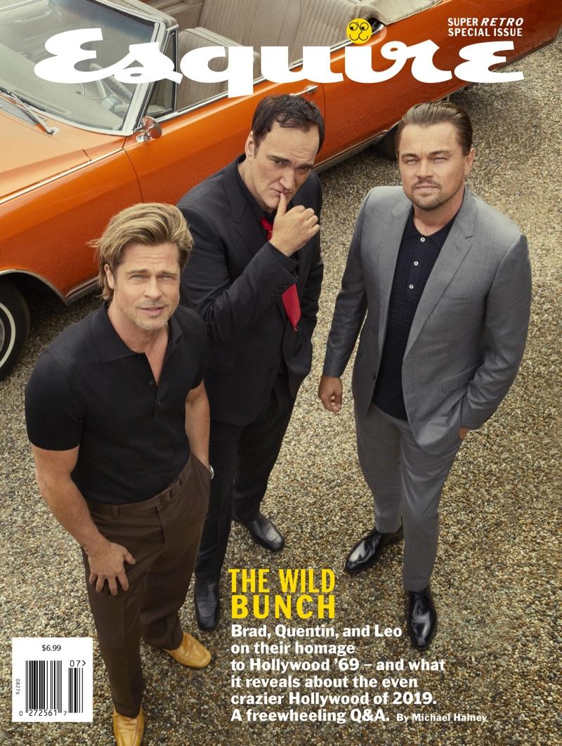 Brad Pitt, Quentin Tarantino, and Leonardo DiCaprio cover the summer 2019 issue of Esquire.