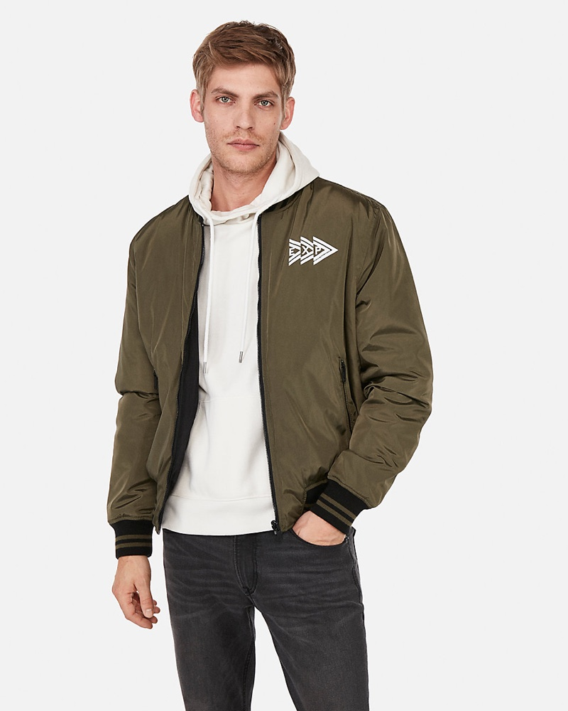 Brand That Unites Reversible Bomber Jacket $148
