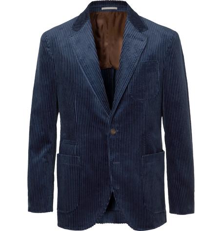 Brunello Cucinelli - Royal-Blue Cotton-Corduroy Blazer - Men - Blue