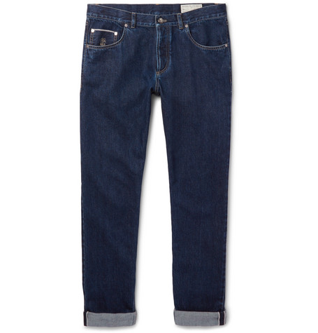 Brunello Cucinelli - Selvedge Denim Jeans - Men - Blue