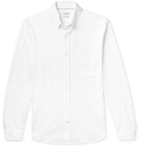 Brunello Cucinelli - Slim-Fit Cotton-Piqué Shirt - Men - White