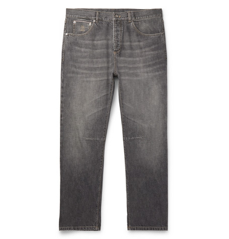 Brunello Cucinelli - Slim-Fit Selvedge Denim Jeans - Men - Gray