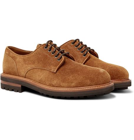 Brunello Cucinelli - Suede Derby Shoes - Men - Brown
