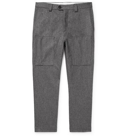 Brunello Cucinelli - Wool-Flannel Trousers - Men - Gray