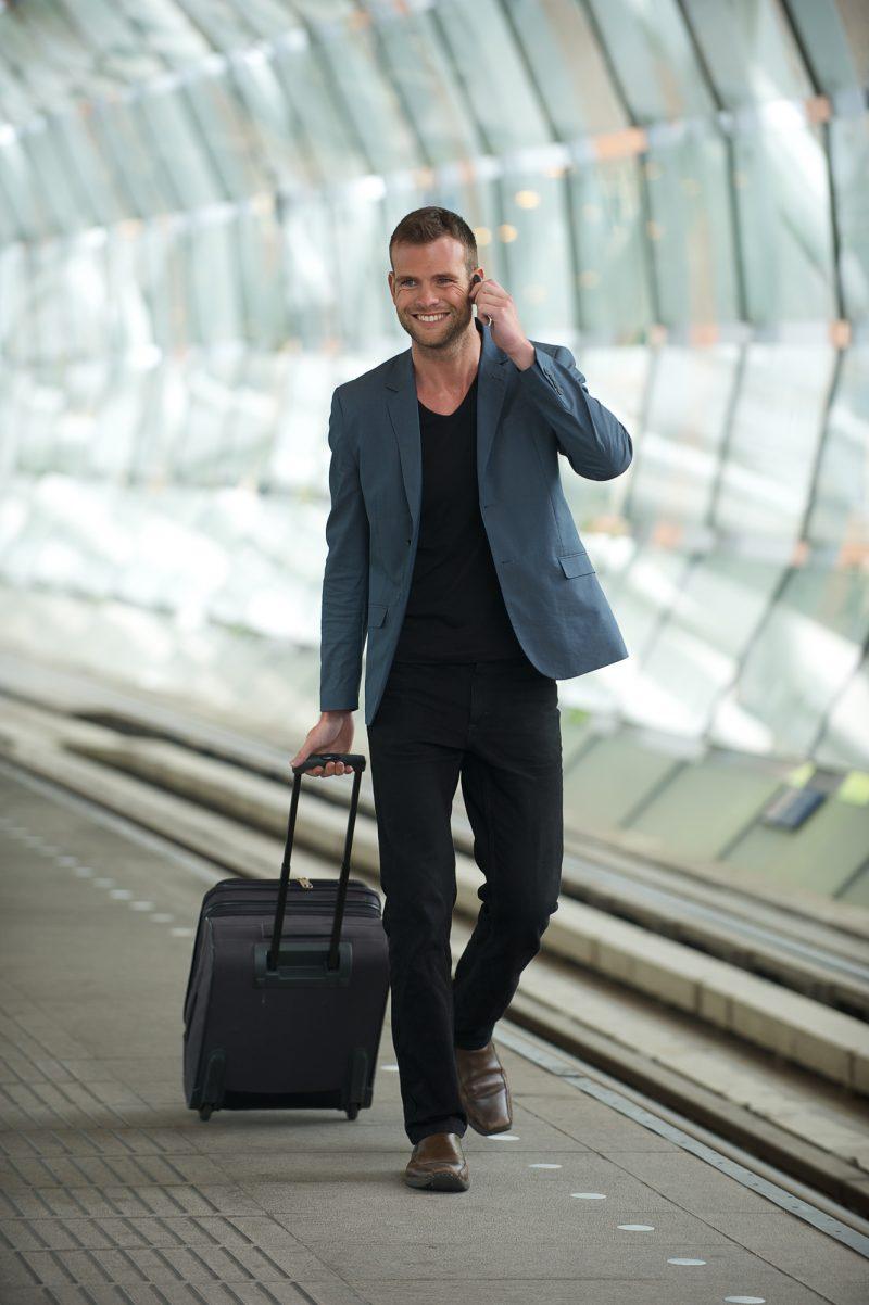 Business Man Airport Stylish