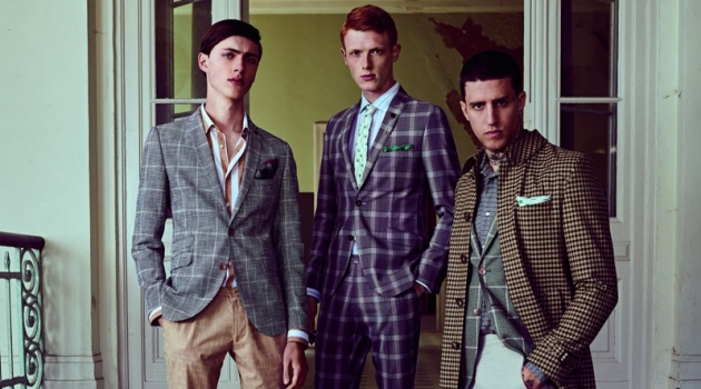 Sep Graf, Linus Wordemann, and Miles Langford front Club of Gents' spring-summer 2019 campaign.