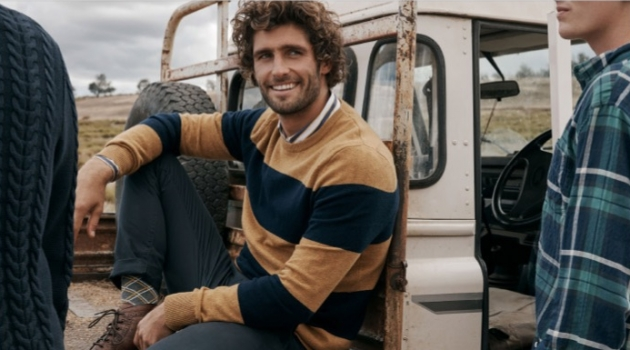 All smiles, Alex Libby connects with Country Road for winter 2019.