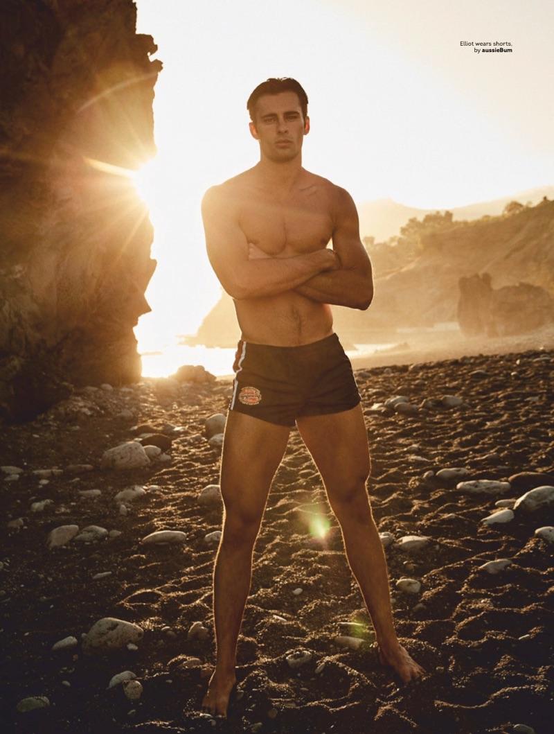 Water Sign: Elliot Meeten Heads to Madeira in Swimwear for Attitude