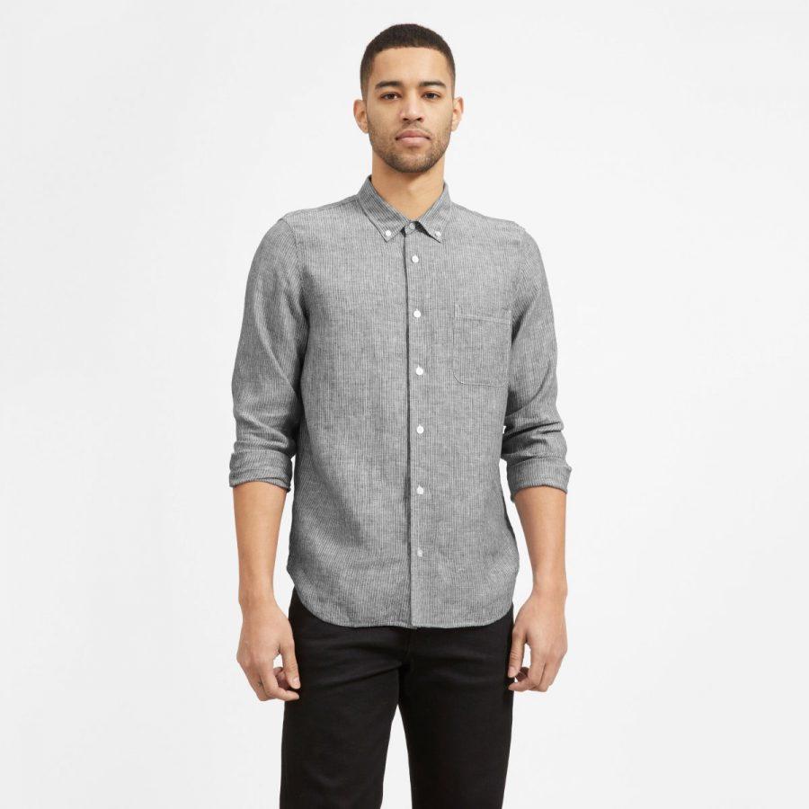 Everlane Linen The Standard Fit Shirt $60