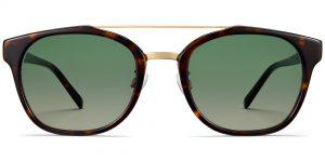 Fairfax M sunglasses with Cognac Tortoise w Gold (Grey Rx)