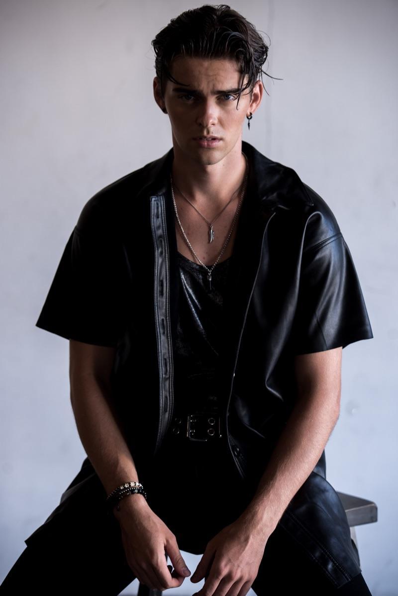 Jakub wears pants AllSaints, tank and shirt Zara.