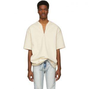 Fear of God Off-White Half-Zip T-Shirt