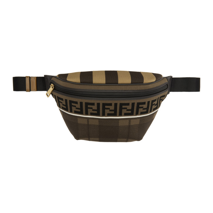 qualité de la marque plus de photos le prix reste stable Fendi Brown Tartan Forever Fendi Waist Bag