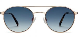 Fisher Wide m sunglasses in Polished Gold (Grey Rx)