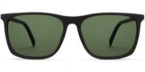 Fletcher Wide m sunglasses in Black Matte Eclipse (Green Rx)
