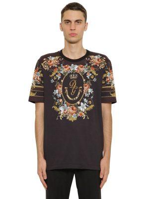 Floral Print Cotton Jersey T-shirt