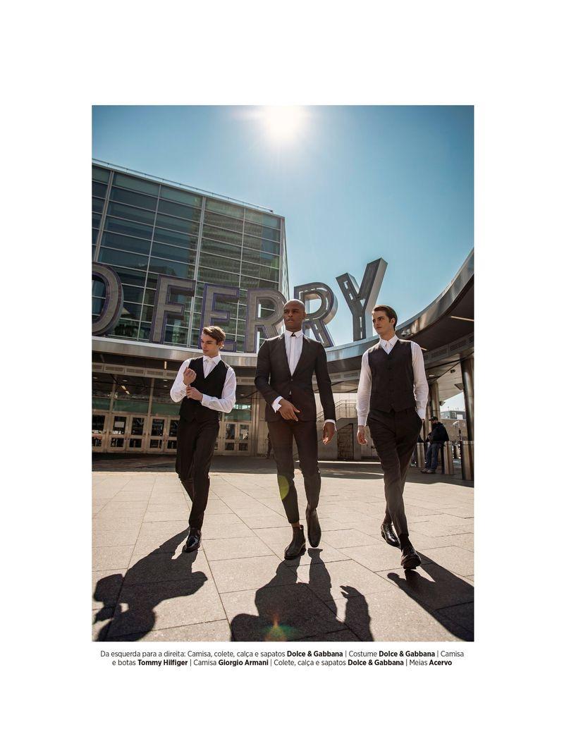 Chic is Back: Bastian Bald, John Michael & Isaiah Hamilton for GQ Brasil