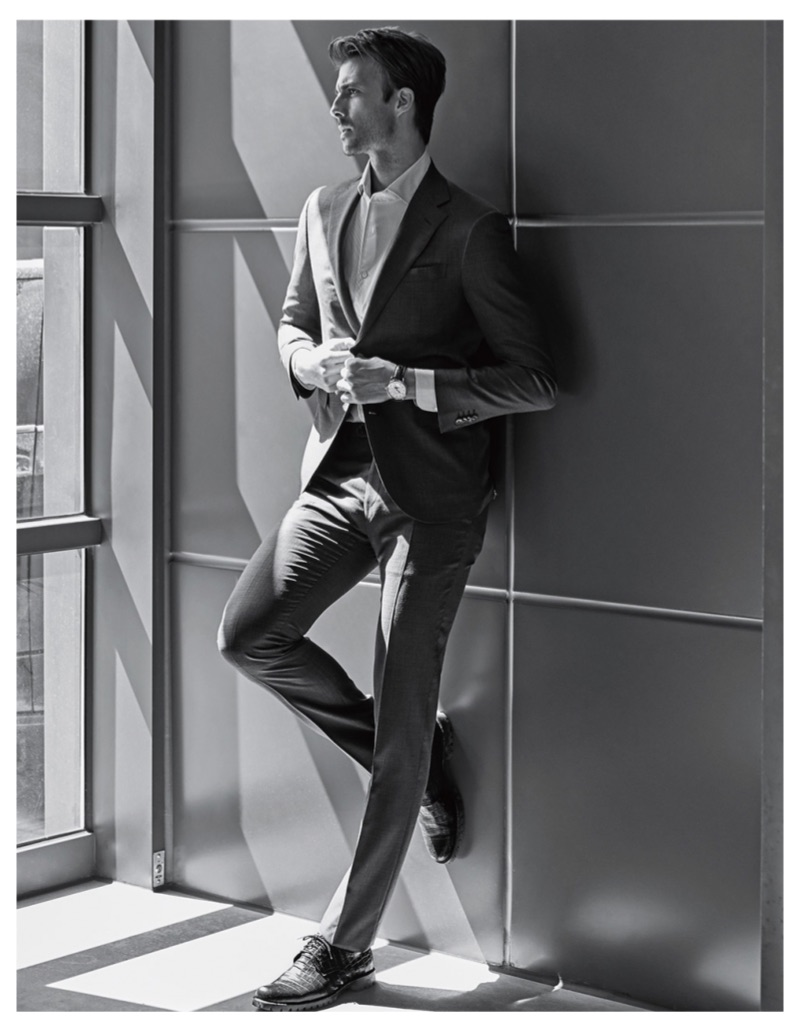 Gilberto Fritsch Impresses in Corneliani for Forbes Korea