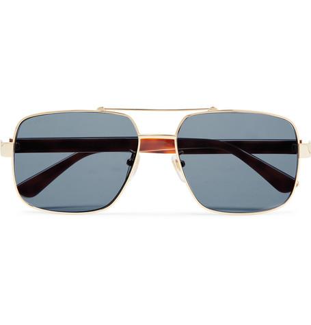 a003c67971de Gucci – Aviator-Style Gold-Tone and Tortoiseshell Acetate Sunglasses – Men  – Gold
